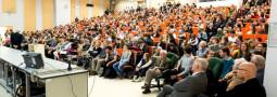 Uczniowie z koła astronomicznego na wykładach na UW